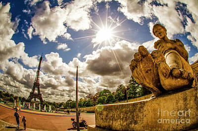 Paris Skyline Royalty-Free and Rights-Managed Images - The Eiffel Tower #3 by Julian Starks