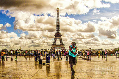 Paris Skyline Royalty-Free and Rights-Managed Images - The Eiffel Tower #4 by Julian Starks
