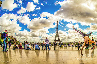 Paris Skyline Royalty-Free and Rights-Managed Images - The Eiffel Tower #5 by Julian Starks