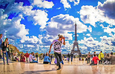 Paris Skyline Royalty-Free and Rights-Managed Images - The Eiffel Tower #6 by Julian Starks