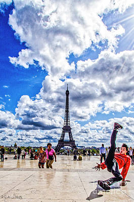 Paris Skyline Royalty-Free and Rights-Managed Images - The Eiffel Tower #7 by Julian Starks