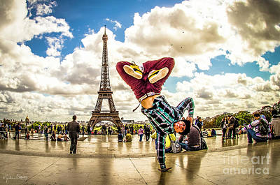 Paris Skyline Royalty-Free and Rights-Managed Images - The Eiffel Tower #8 by Julian Starks