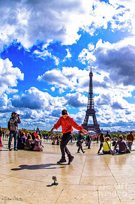 Paris Skyline Royalty-Free and Rights-Managed Images - The Eiffel Tower #9 by Julian Starks