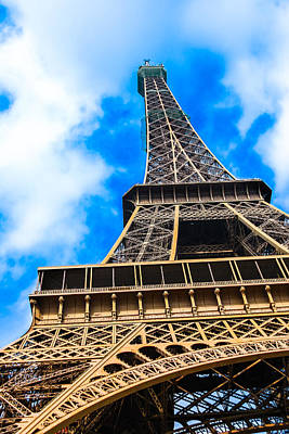 Photograph - The Eiffel Tower From Below by Nila Newsom