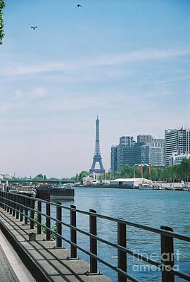 1-war Is Hell Royalty Free Images - The Eiffel Tower and The Seine River Royalty-Free Image by Nadine Rippelmeyer