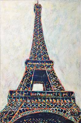 Painting - The Eiffel Tower by Cristina Stefan