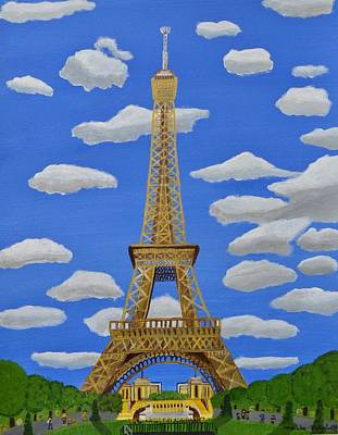 Painting - The Eiffel Tower  by Magdalena Frohnsdorff