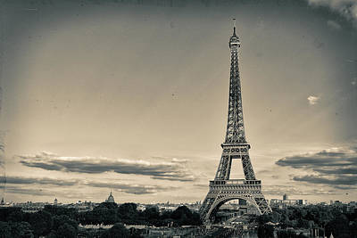 Paris Skyline Royalty-Free and Rights-Managed Images - The Eiffel Tower by Youshij Yousefzadeh