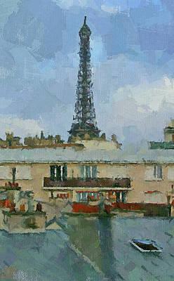 Digital Art - The Eiffel Tower by Yury Malkov