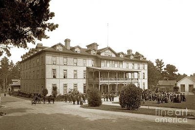 Photograph - The El Carmelo Hotel, Pacific Grove Circa 1887 by California Views Mr Pat Hathaway Archives