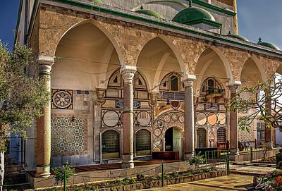 Photograph - The El Jazzar Mosque Entrance by Endre Balogh