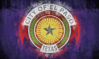 Digital Art - The El Paso Flag by JC Findley