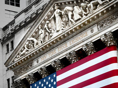 Nyse Photograph - The Elaborate Stone Work On The New by Justin Guariglia