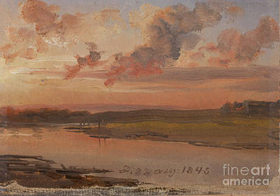 Painting - The Elbe In Evening Light by Celestial Images
