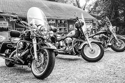 Photograph - Motorcycles At The Elbow Inn by SR Green