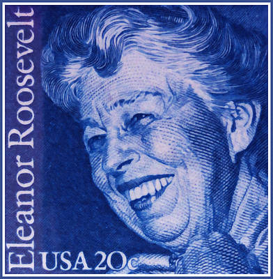 1984 Painting - The Eleanor Roosevelt Stamp by Lanjee Chee