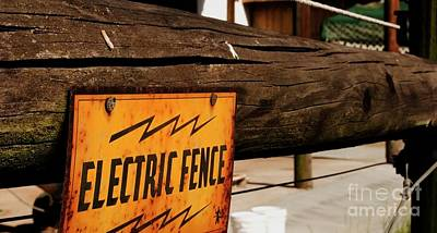 Photograph - The Electric Fence by Bob Pardue