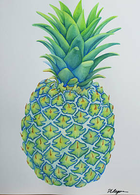 Painting - The Electric Pineapple by DK Nagano