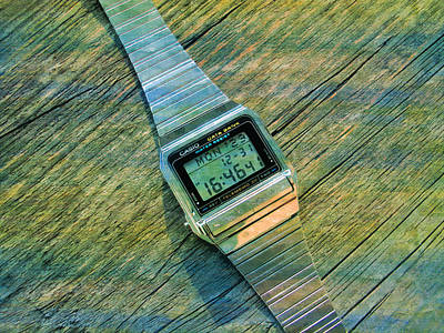 The Electronic Watch Casio Watch  Art Print by PixBreak Art