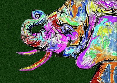 Digital Art - The Elephant by Darren Cannell