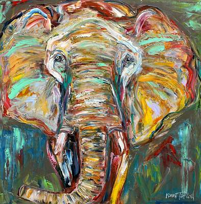 Painting - The Elephant by Karen Tarlton