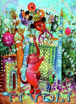 Painting - The Elephant Of Tivoli Gardens by Miki De Goodaboom