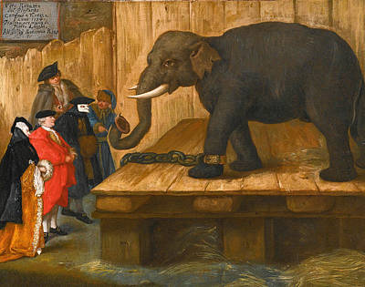 Pietro Longhi Painting - The Elephant by Pietro Longhi