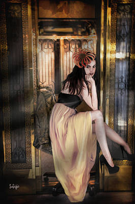 Photograph - The Elevator Girl by Sandra Schiffner