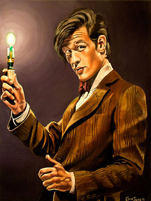 Fan Art Painting - The Eleventh Doctor by Emily Jones