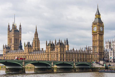 Big Ben Photograph - The Elizabeth Tower And Houses Of Parliament by AMB Fine Art Photography