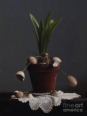 Painting - The Elusive Egg Plant by Larry Preston
