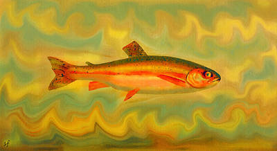 Digital Art - The Elusive Sunfire Fish by Shelli Fitzpatrick