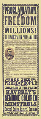 Mixed Media Royalty Free Images - The Emancipation Proclamation Broadside Royalty-Free Image by War Is Hell Store