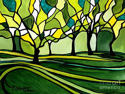 Painting - The Emerald Glass Forest by Elizabeth Robinette Tyndall