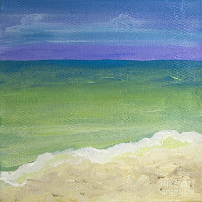 Painting - The Emerald Sea Panel 1 by Robyn Saunders