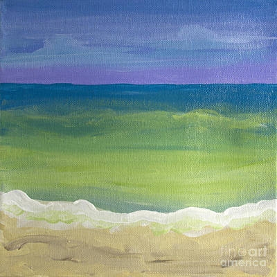 Painting - The Emerald Sea Panel 2 by Robyn Saunders