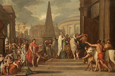 Painting - The Emperor Augustus Closing The Doors Of The Temple Of Janus by Follower of Gerard de Lairesse