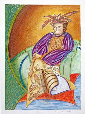 Heart Sutra Wall Art - Painting - The Emperor by Monika Kretschmar
