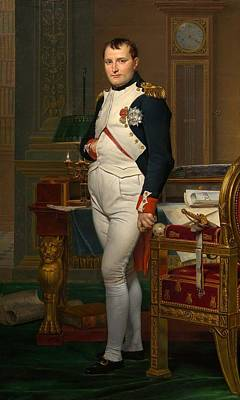 Tuileries Painting - The Emperor Napoleon In His Study At The Tuileries by Louis David
