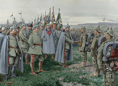 Iron Cross Painting - The Emperor Presents The Iron Cross To The Heroes Of Nowo-georgiewsk by MotionAge Designs