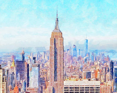 Photograph - The Empire State Building And The Manhattan New York Skyline 20180508hor by Wingsdomain Art and Photography