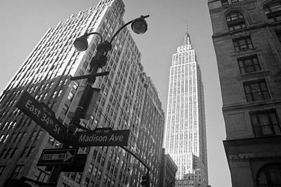 The Empire State Building In New York City Art Print by Ilker Goksen
