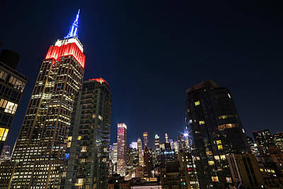 Photograph - The Empire State Building In Red White And Blue New York Ny by Toby McGuire