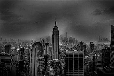 Gritted Photograph - The Empire State Building by Martin Newman
