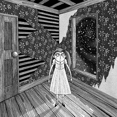 Pen Drawing - The Empty Room  by Andrew Hitchen