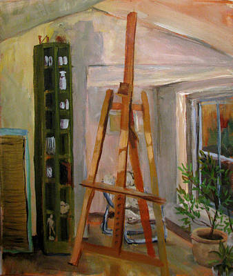 Painting - The Empty Studio by Art Nomad Sandra  Hansen