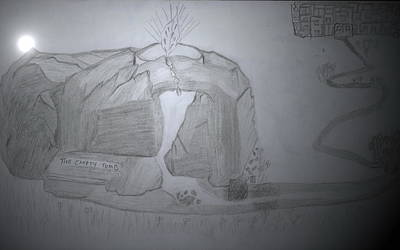 Tomb Mixed Media - The Empty Tomb by Lucy Mugambi