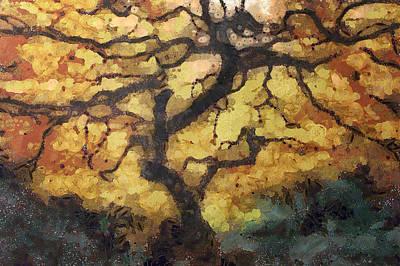 Art Nouveau Style Mixed Media - The Empty Tree by Mario Carini