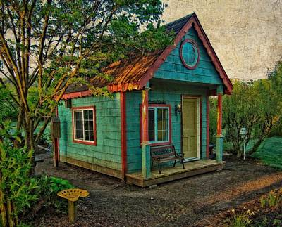 Print featuring the photograph The Enchanted Garden Shed by Thom Zehrfeld