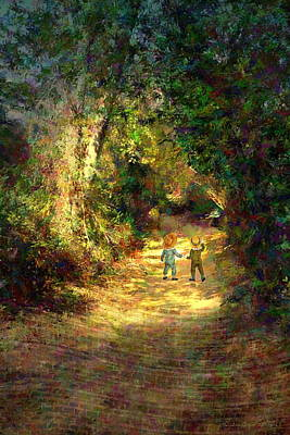 Photograph - The Enchanted Path Impressionism Two by Joyce Dickens